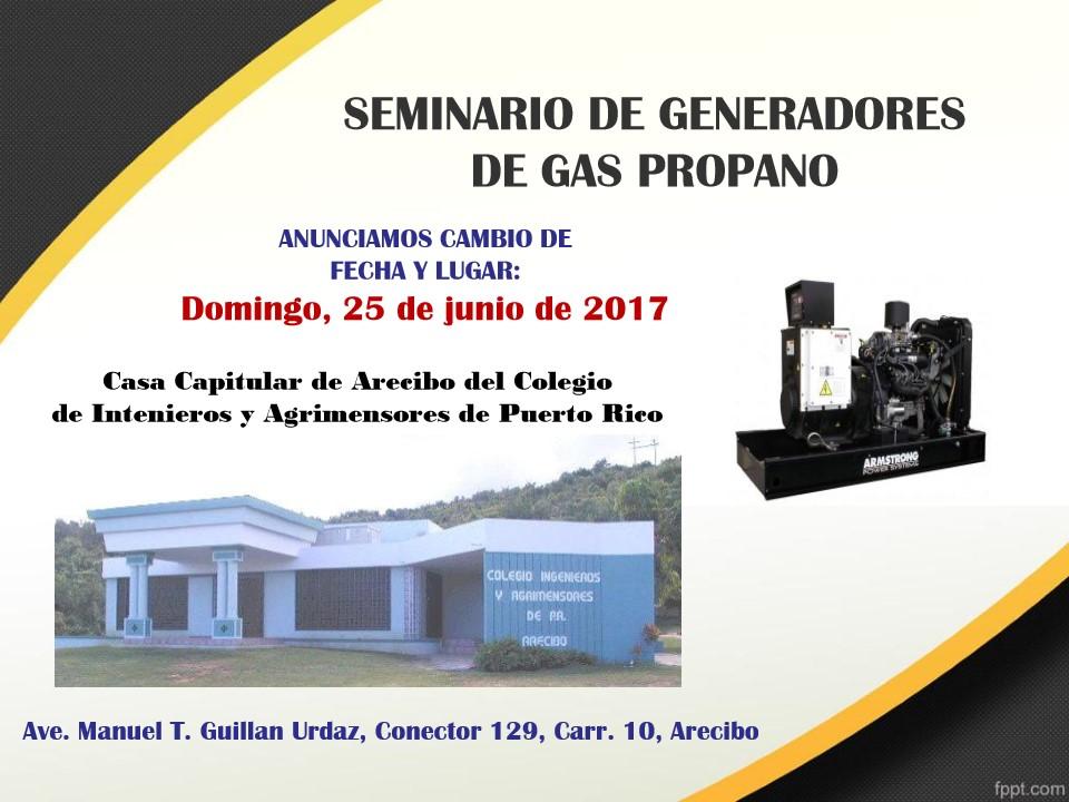 Seminario generador de gas propano en arecibo colegio de - Generador de gas ...